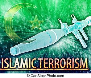 concepto, resumen, ilustración, islámico, digital, ...