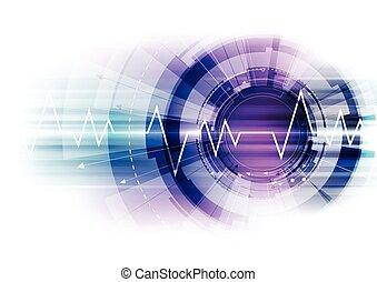 concepto, resumen, vector, plano de fondo, tecnología digital
