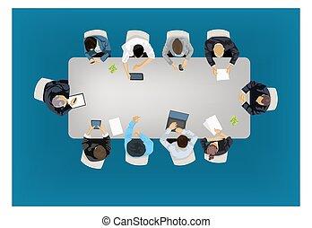 concepto, reunión negocio