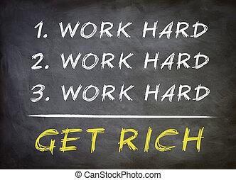 concepto, rico, conseguir