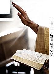 concepto, sagrado, biblia