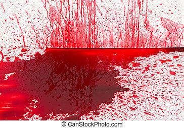 concepto, salpicadura, :, halloween, sangre