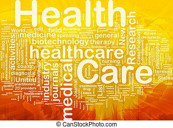 concepto, salud, plano de fondo, cuidado