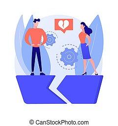 concepto, separado, resumen, vector, illustration., persona