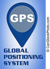 concepto, -, sistema global que posiciona, gps