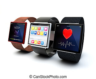 concepto, smartwatches, wearable