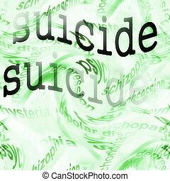 concepto, suicidio, plano de fondo