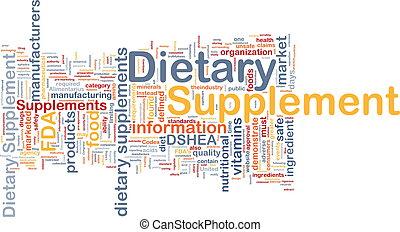 concepto, suplemento, plano de fondo, dietético