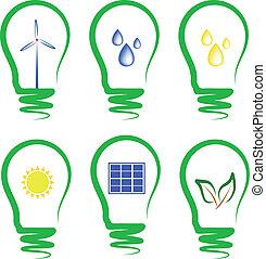 concepto, symbolizing, energía alternativa
