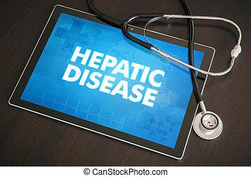 concepto, tableta, (hepatitis, enfermedad, cirrhosis),...