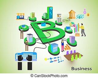 concepto, tecnología, empresa / negocio