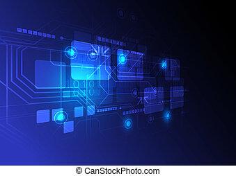 concepto, tecnología, plano de fondo, digital
