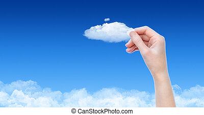 concepto, tenencia, nube
