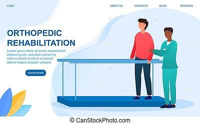 concepto, terapia, ortopédico, rehabilitación