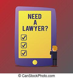 concepto, texto, abogado, blanco, necesidad, si, posición,...