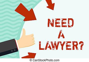 concepto, texto, arrows., forma, pulgares, abogado, blanco, ...
