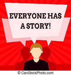 concepto, texto, dos, pasado, everyone, story.,...