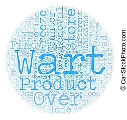 concepto, texto, encima, mostrador, eliminación, wordcloud, productos, plano de fondo, verruga