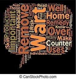 concepto, texto, verruga, eliminación, wordcloud, plano de fondo, peligros, hogar