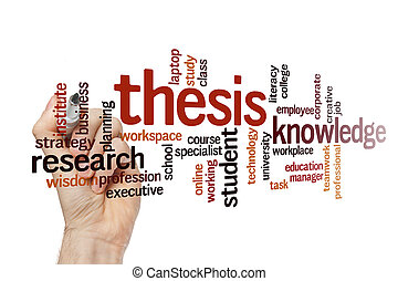 concepto, thesis, palabra, nube