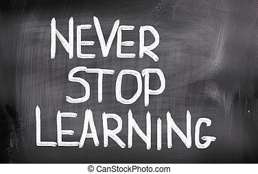 concepto, tiempo, aprender