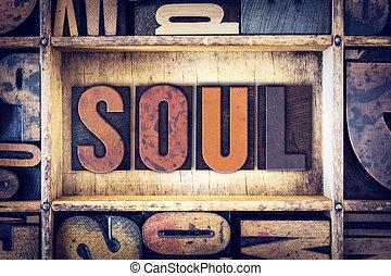 concepto, tipo, alma, texto impreso