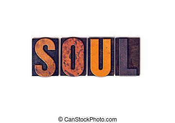 concepto, tipo, alma, texto impreso, aislado