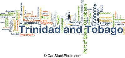 concepto, tobago, plano de fondo, trinidad