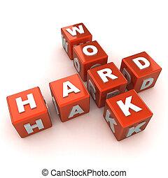 concepto, trabajo, duro