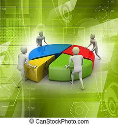 concepto, trabajo, equipo negocio