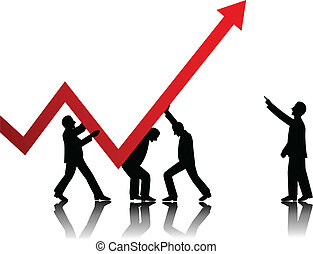concepto, vector, empresa / negocio