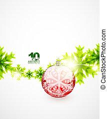 concepto, verde, navidad