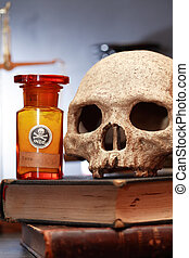 concepto, viejo, farmacia