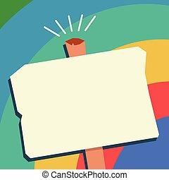 concepto, viejo, promocional, forma, diseño, blanco, uno, resistido, espacio, aislado, plantilla, vacío, plano, empresa / negocio, poste indicador, halftone, material, ilustración, geométrico, carteles, copia, cupones, vector, estante