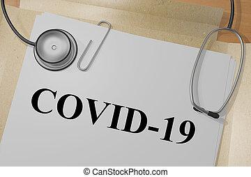 concepto, viral, covid-19