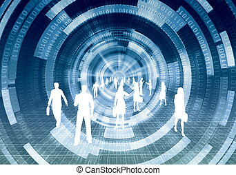 concepto, virtual, empresa / negocio