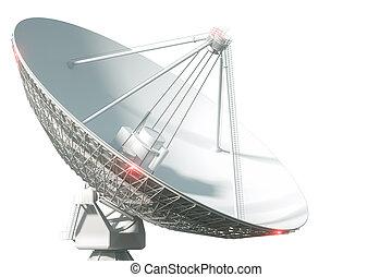 concepto, visualización, space., 3d, blanco, wiretap, ...