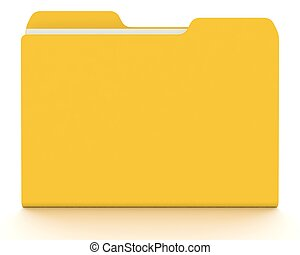 concepto, white., folder/file, 3d