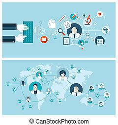 conceptos médicos, servicio, en línea