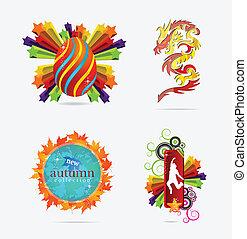 concepts, emblèmes, signe, créatif