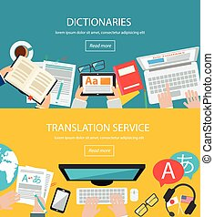 Concepts for foreign language translation process,...