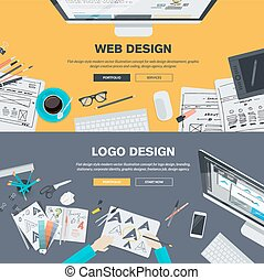 Concepts for web and logo design