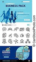 concepts, icones affaires