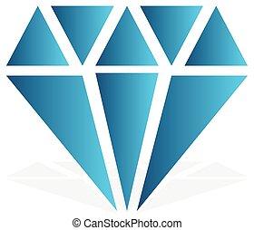 concepts., illustration., 単純である, シンボル。, 宝石, 高い, 印, アイコン, 宝石,...