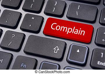 concepts, message, complain, clavier