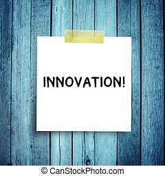 concepts, message, note, innovation, sphère, reussite