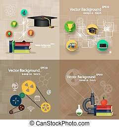 Concepts of education. A set of backgrounds.
