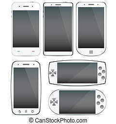 concepts., smartphone, állhatatos