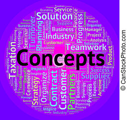 Concepts Word Means Wordcloud Invention And Hypothesis -...