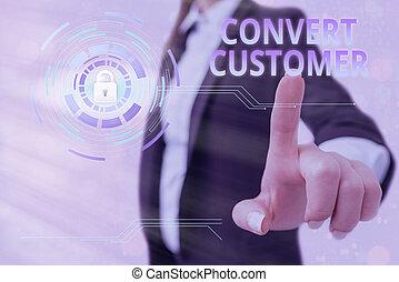 conceptual, actuación, señal, customer., converso, plomos, táctica, texto, vuelta, estrategia, buyer., mercadotecnia, foto